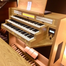 Content Celeste 340 Standard UK Specification Organ in Light Oak (30RC)