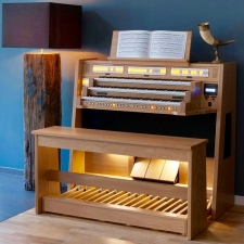 Content Celeste 340 Organ, 30 Note Radiating Concave Pedalboard & Bench