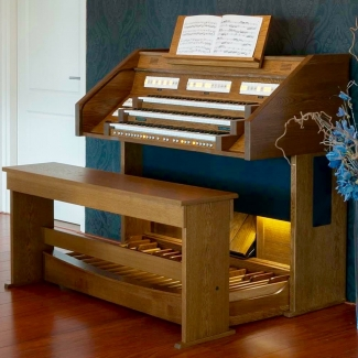 Content Celeste 340R Organ, 32 Note Radiating Concave Pedalboard & Bench