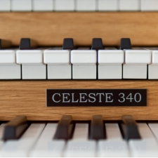 Content Celeste 340R Organ, 30 Note Radiating Concave Pedalboard & Bench