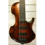 Marleaux Contra 5 String Semi-Acoustic Bass Guitar, Old Violin Finish - 40% Off!