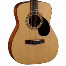 Cort AF510 Folk Size Acoustic Guitar in Open Pore Natural with Soft Bag