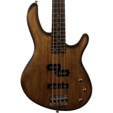 Cort Action 4PJ 4-String Bass Guitar in Open Pore Walnut