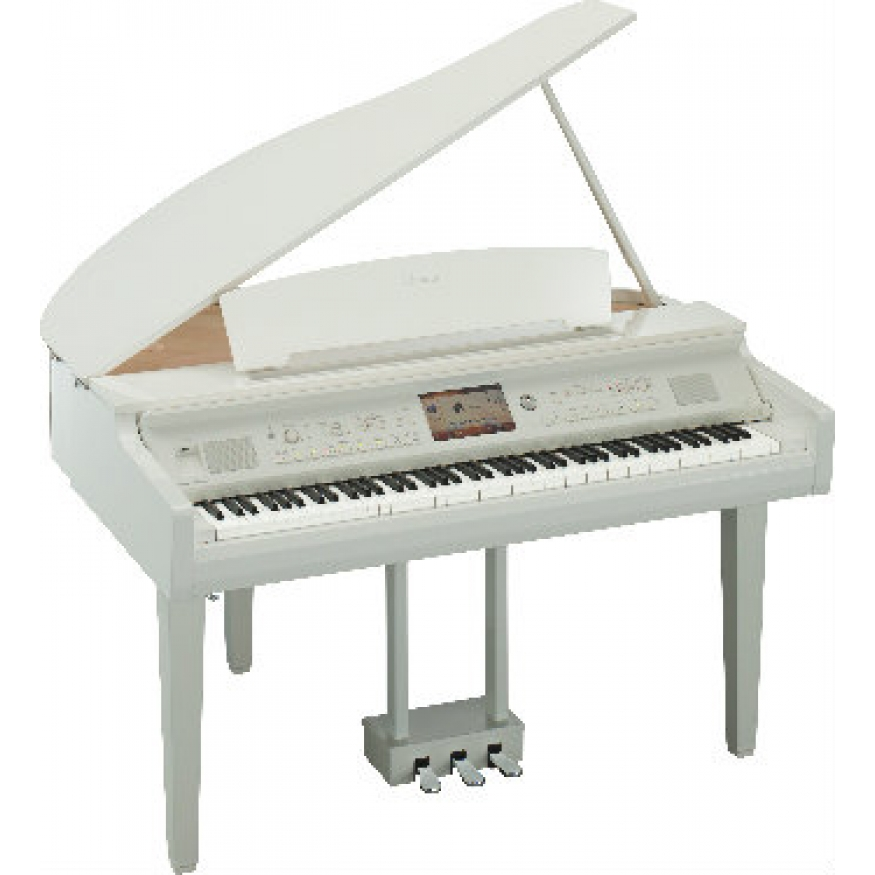 yamaha cvp709 clavinova digital grand piano polished white