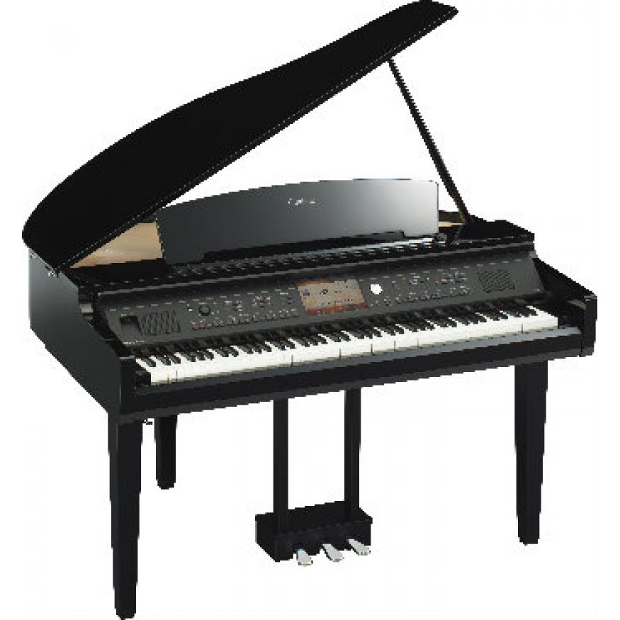 yamaha cvp709 clavinova digital grand piano polished ebony at promenade music. Black Bedroom Furniture Sets. Home Design Ideas