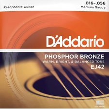 D'Addario EJ42 Resonator Guitar Strings (Medium Gauge, Phosphor Bronze)