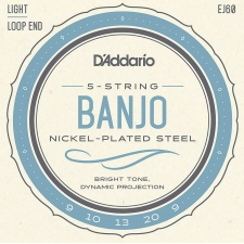 D'Addario EJ60 Banjo Strings (Light Tension, Loop End)