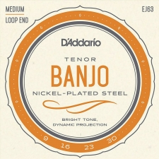 D'Addario EJ63 Tenor Banjo Strings (Medium Tension, Loop End)