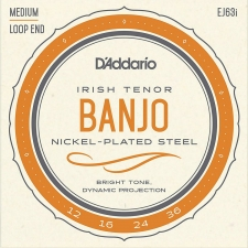 D'Addario EJ63i Irish Tenor Banjo Strings (Medium Tension, Loop End)