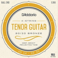 D'Addario EJ66 Tenor Guitar Strings (80/20 Bronze, Ball End)