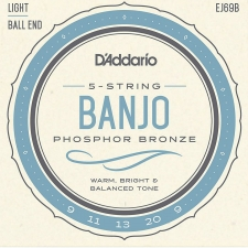 D'Addario EJ69b Banjo Strings (Light Tension, Ball End)