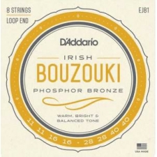 D'Addario EJ81 Irish Bouzouki Strings (Loop End, Phosphor, Medium Tension)