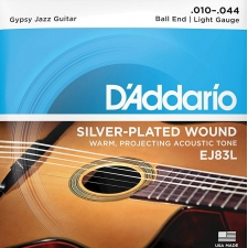 D'Addario EJ83L Gypsy Jazz Guitar Strings (Ball End, Light Tension)