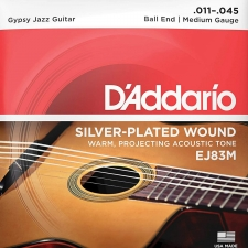 D'Addario EJ83M Gypsy Jazz Guitar Strings (Ball End, Medium Tension)
