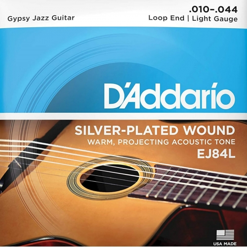 D'Addario EJ84L Gypsy Jazz Guitar Strings (Loop End, Light Tension)