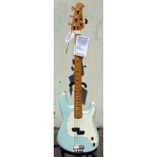Music Man (USA) Cutlass 4-String Bass Guitar in Diamond Blue Inc Case