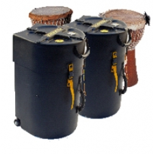 "Hardcase 16"" Djembe Case w/ Wheels & Pull Handle HNDJ16"