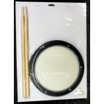 Beverley AK25 8 Inch Drum Practice Pad including Sticks
