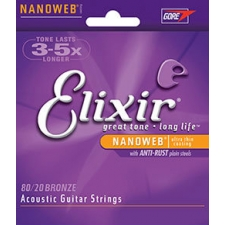 3 Sets of Elixir 11052 80/20 Bronze Acoustic Guitar Strings 12-53