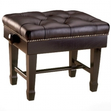 English Made Large Adjustable Single Concert Stool With Leather Top