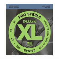 2 Sets of D'Addario EPS165 Pro-Steels Long Scale Bass Strings 45-105