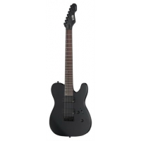 ESP LTD TE417 7 String Guitar in Matte Black, Secondhand