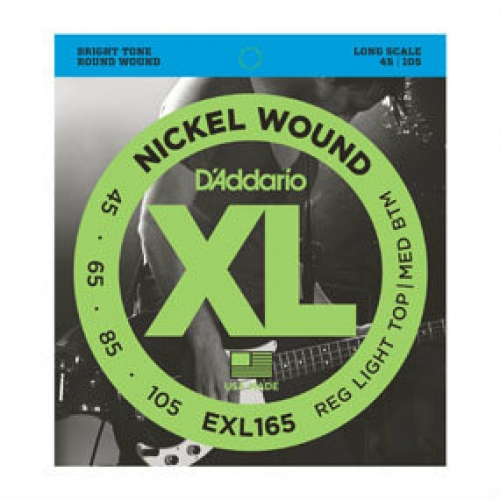 2 Sets of D'Addario EXL165 Long Scale Bass Strings 45-105