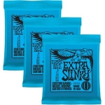 3 Sets of Ernie Ball 2225 Extra Slinky Electric Guitar Strings 8-38