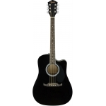 Fender FA125CE Dreadnought Electro Acoustic Guitar, Black