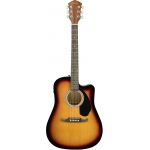 Fender FA125CE Dreadnought Electro Acoustic Guitar, Sunburst