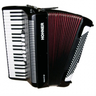 Hohner Bravo III 120 Piano Accordion in Black, Newer Facelift Version