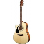 Fender CD100CE Dreadnaught Cut Electro in Natural, Lefthanded