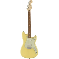 Fender Mexican Duo Sonic HS Electric Guitar in Canary Diamond, Secondhand