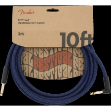 Fender Angled Festival 10FT (3M) Instrument Cable, Blue Dream