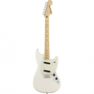 Fender Mustang, Olympic White, Maple Fingerboard