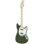 Fender Mexican Mustang Electric Guitar In Olive Green