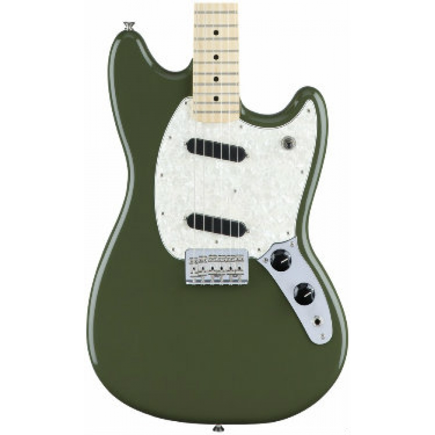 Fender Mexican Made Mustang Electric Guitar In Olive Green