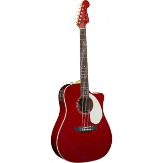 Fender Sonoran SCE, Candy Apple Red, Matching Headstock