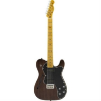 Fender Modern Player Telecaster Thinline Deluxe, Black Transparent