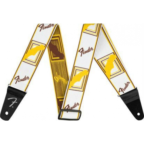 Fender WeighLess Monogram Strap Classic White