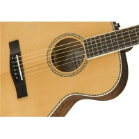 Fender PM-TE All Solid Electro Acoustic Travel Guitar With Hard Case