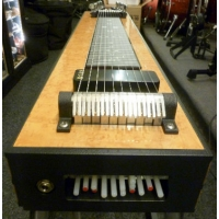 GFI S10SM+ Student Single Neck Pedal Steel Guitar With Hard Case, Maple Mica