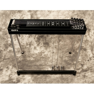 GFI S10SM+ Student Single Neck Pedal Steel Guitar With Hard Case in Black