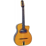 Gitane D500 Maccaferri Style D-Hole Gypsy Jazz Guitar In Natural