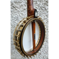 Dave Stacey UK Made 5 String Banjo With Gold Plated Rim. Inc Case