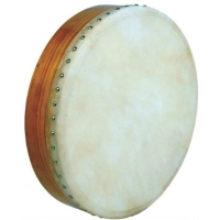 """Glenluce 16"""" Standard Bodhran in Natural Stain with Beater (GR16000)"""
