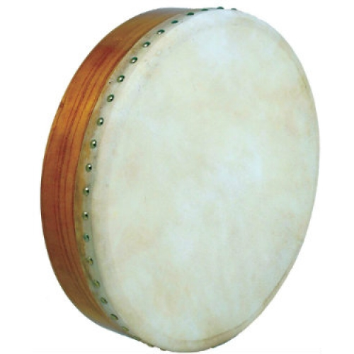 "Glenluce 16"" Bodhran in Natural Stain with Beater (16000)"