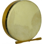 "Glenluce 12"" Standard Bodhran in Natural Stain with Beater (GR16001)"
