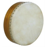 "Glenluce 14"" Standard Bodhran in Natural Stain with Beater (GR16002)"