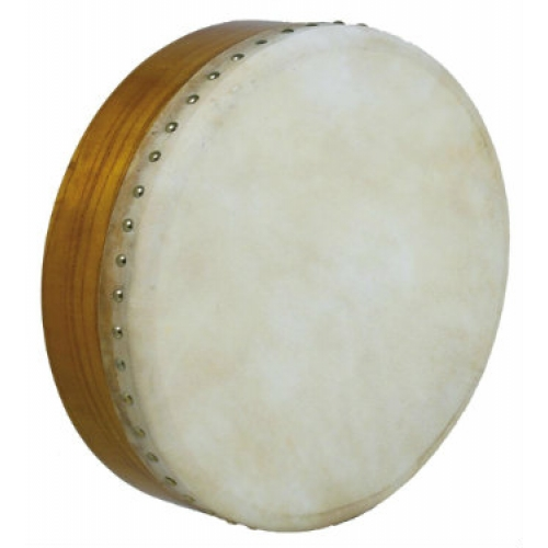 "Glenluce 14"" Bodhran in Natural Stain with Beater (16002)"
